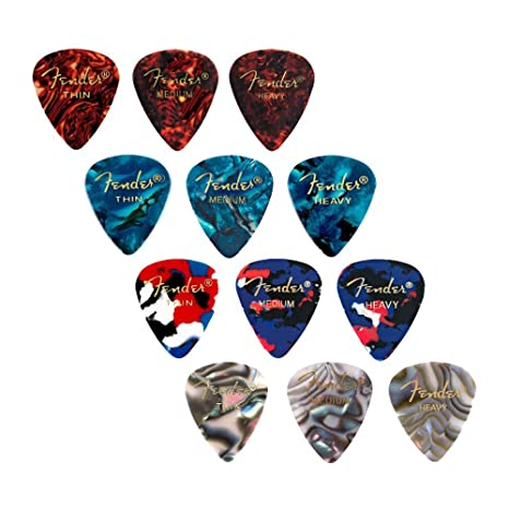 Fender Premium Picks sampler – Thin, medium & heavy calibri