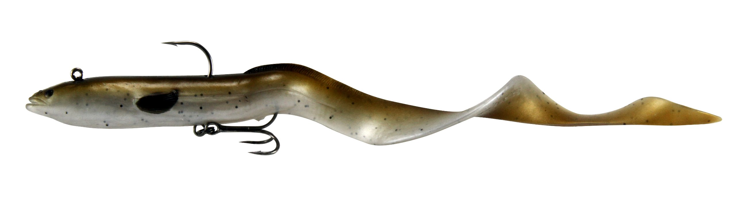 Okuma Fishing Tackle Savage Gear Real Eel Prerigged Slow Sinking Lure, Olive Brown Pearl, 12-Inch - 2 3/4-Ounce by Okuma Fishing Tackle (Image #1)