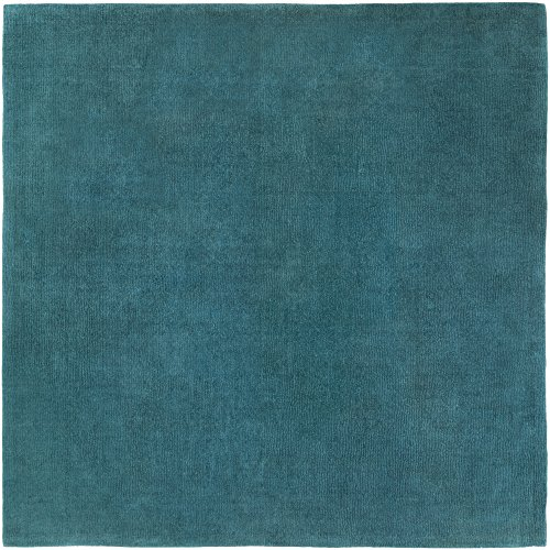 (Surya Mystique M-5330 Hand Loomed Wool Square Solids and Borders Area Rug, 9-Feet 9-Inch)