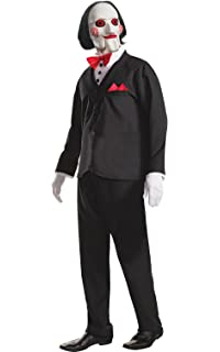 Rioneon Mens Saw Jigsaw Creepy Costume Halloween Movie Horror ...