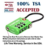TSA Compatible Travel Luggage Locks, Inspection