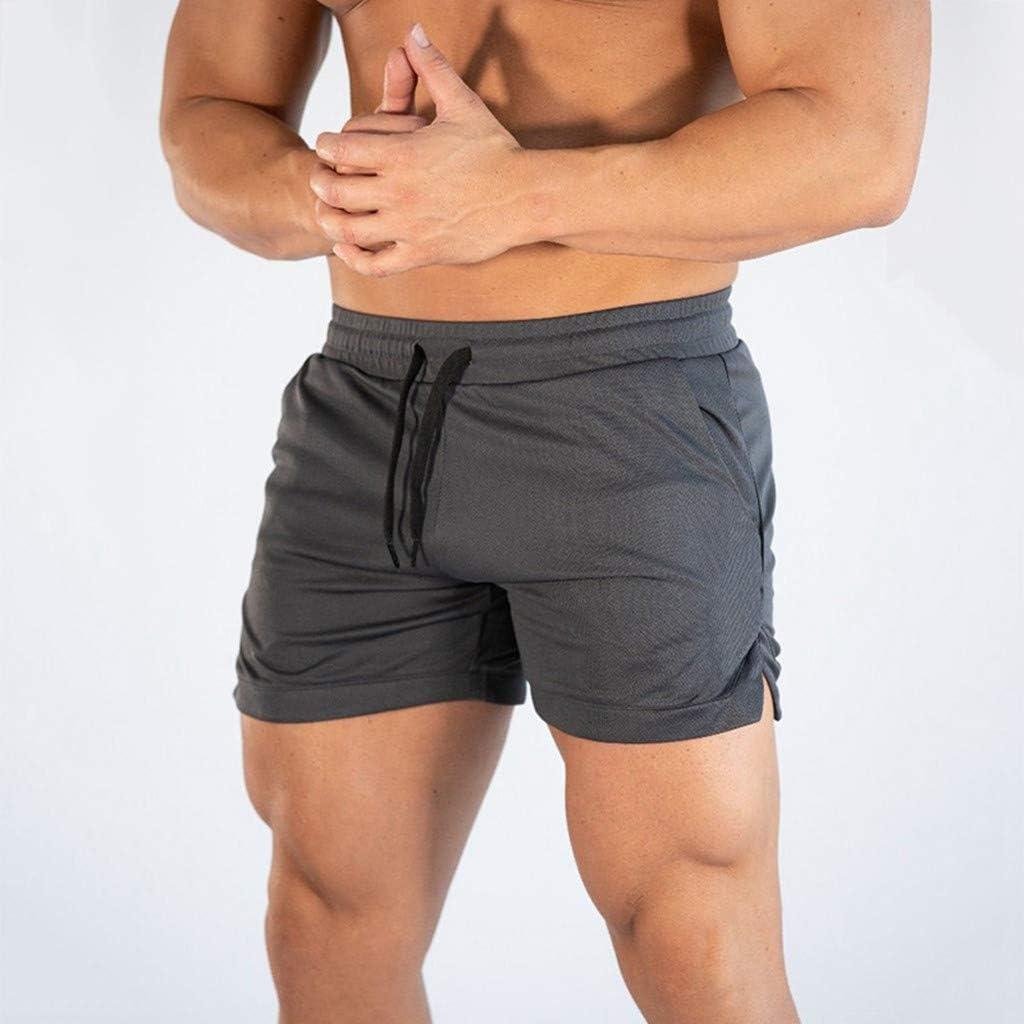 EUYOO Pantaloncini Uomo Palestra Costume da Bagno Pantaloni Corti da Lavoro Estivi Uomo Sportivo Pantaloncini Loose da Spiaggia Basket Running Fitness Casual Shorts