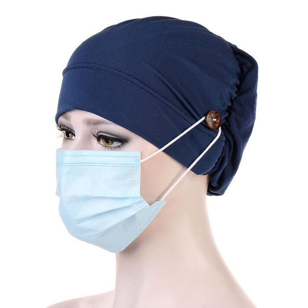 Multifunction Headbands with Buttons Hat Cover Holder Wearing Protect Ears Head Wrap Hat Hair Bands Reducing Ear Pain