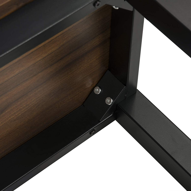 Structure en m/étal et Plateau en MDF Robuste,H/être Fonc/é WOLTU BT30dc Table de Bar 140x40x100cm Table Bistrot Table /à Manger