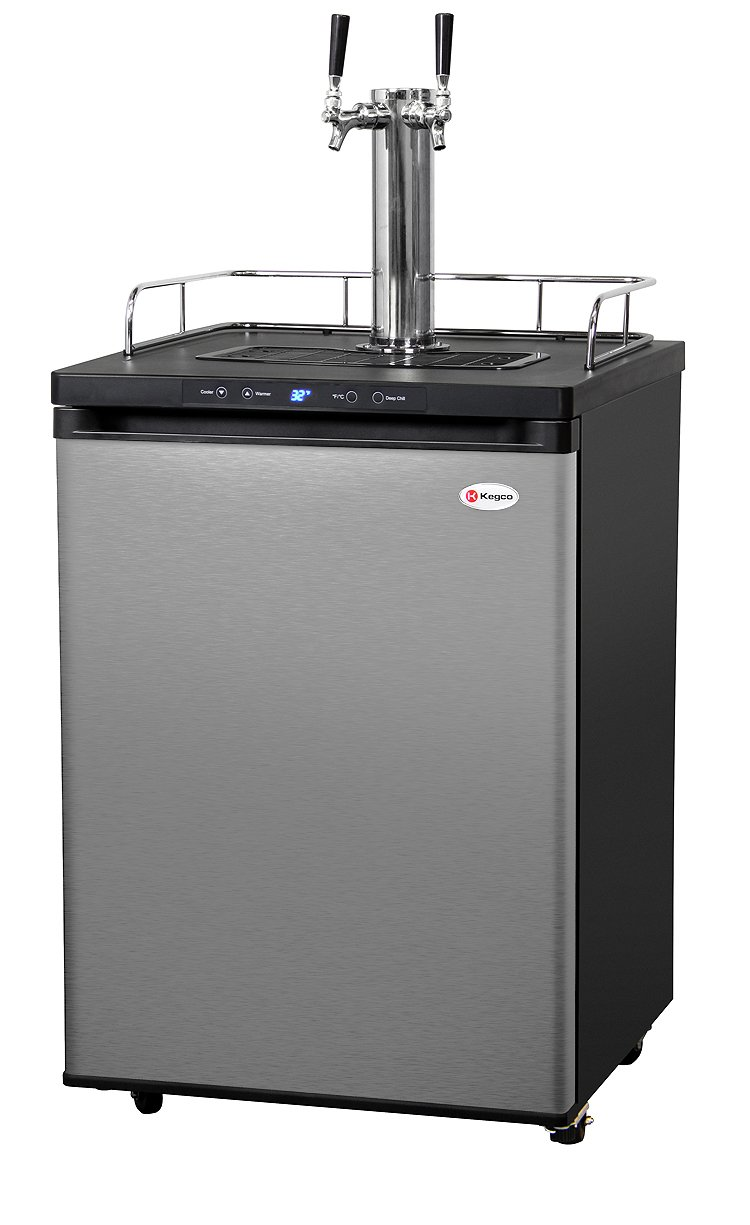 Amazon.com: Kegco Full-Size Digital Homebrew Kegerator Dual Faucet Ball Lock Keg Dispenser Stainless: Kitchen & Dining
