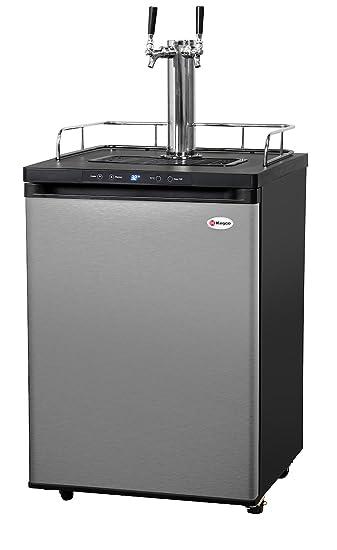 Kegco Full-Size Digital Homebrew Kegerator Dual Faucet Ball Lock Keg Dispenser Stainless