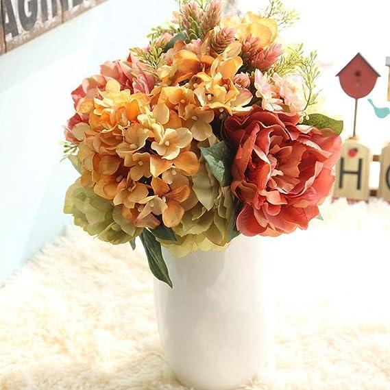 Amazon.com: Juesi Ramo de flores de boda, seda falsa peonía ...