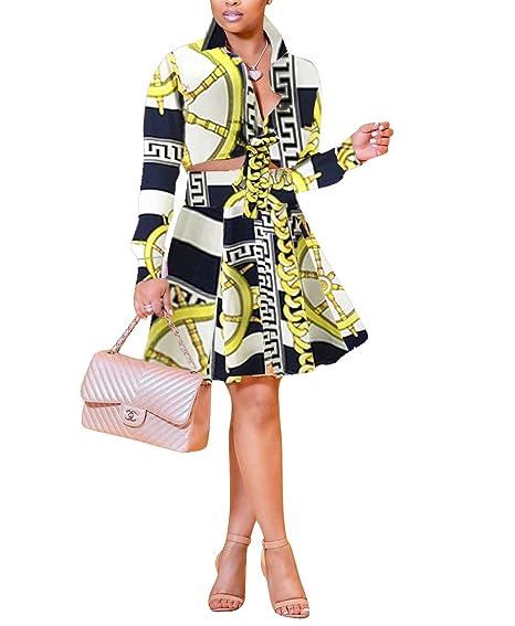 Printed Midi Skirt Chambray Shirt Brown Flats Jpg