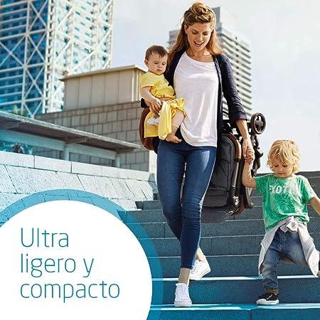 Laika Bébé Confort Cochecito super urbano, ultracompacto y ligero, homologado para viajar, desde 0 meses hasta 3,5 años, color nomad black