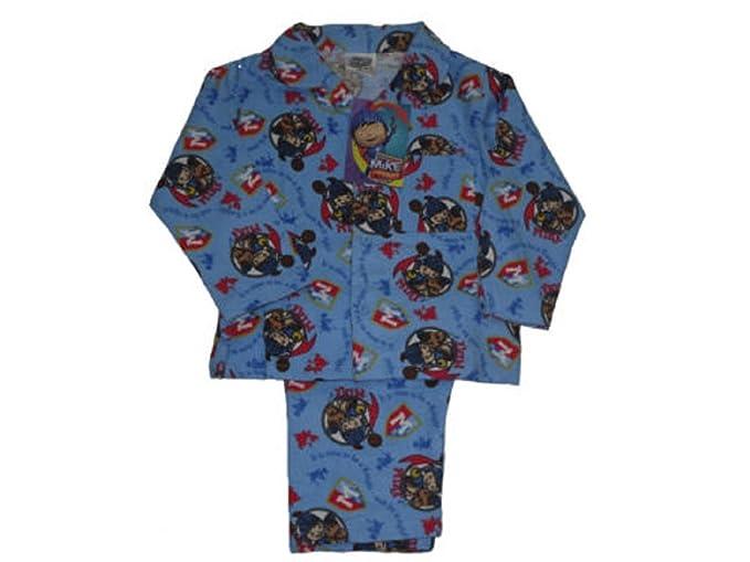 Boys pijama Mike el caballero - Juego de 1 - 4 años de edad azul azul 2 años: Amazon.es: Ropa y accesorios