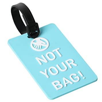 TRIXES Etiqueta para Equipaje Not Your Bag! Etiqueta Identificadora - Azul y Blanca: Amazon.es: Equipaje