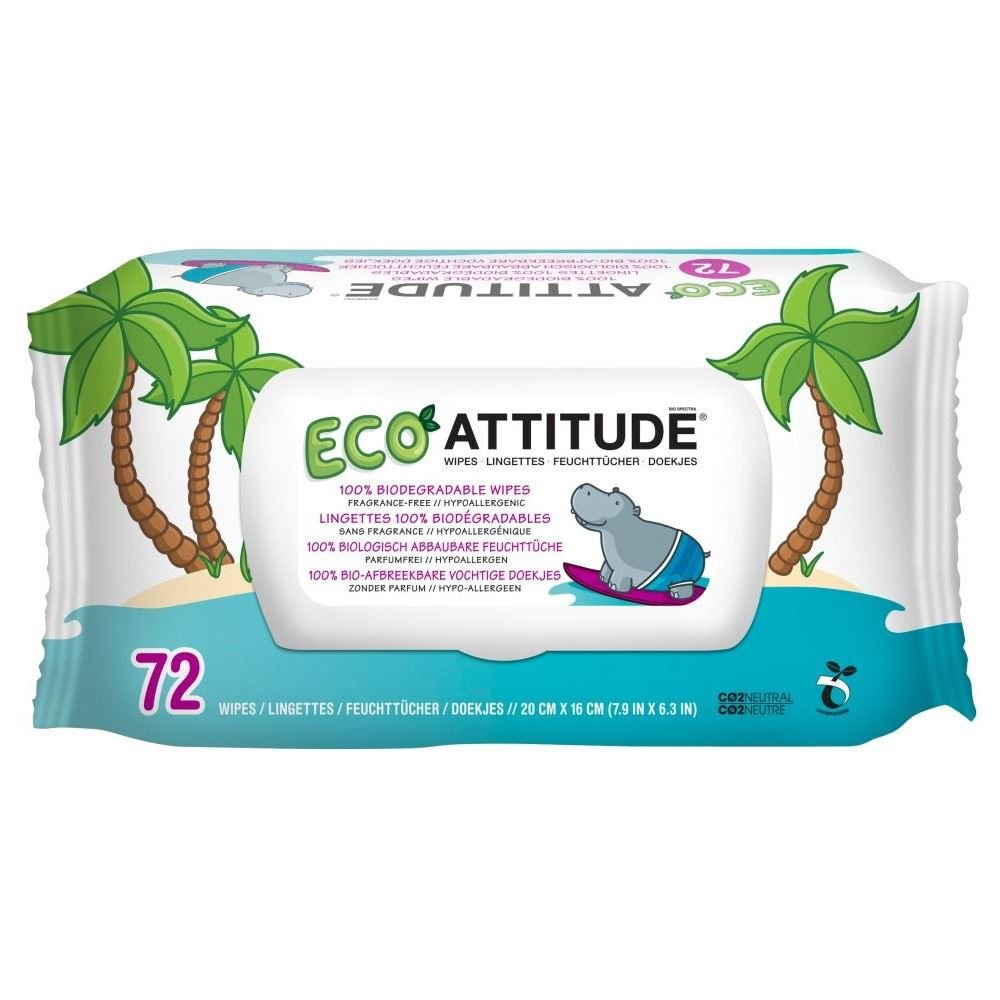Attitude Compostable Baby Wipe Box (72) Grocery