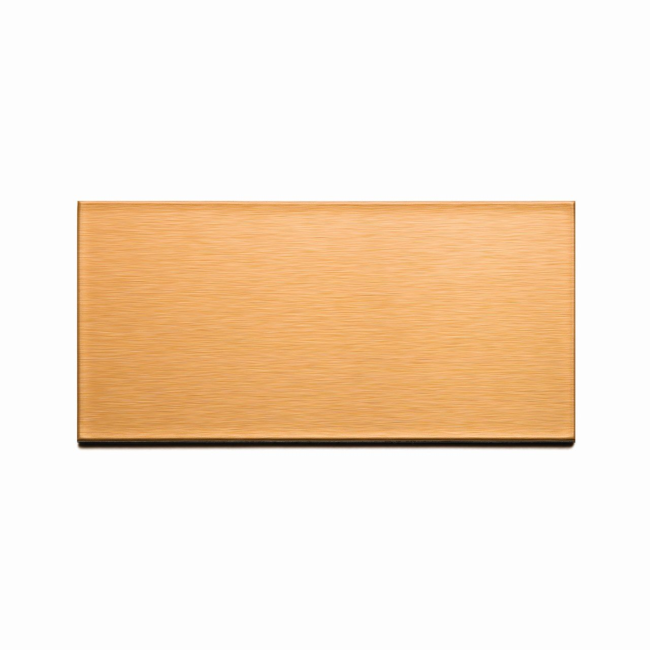 Aspect Peel and Stick Backsplash 3in x 6in Brushed Copper Long Grain Metal Tile for Kitchen and Bathrooms (8-pack) by Aspect
