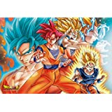 Ensky 300-AC028 Dragon Ball Super Goku All Forms Art Crystal Jigsaw Puzzle (300-Piece)