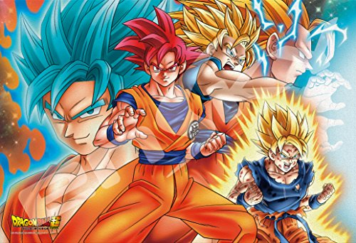Ensky Dragon Ball Super Goku All Forms Art Crystal Jigsaw Puzzle (300 Piece)