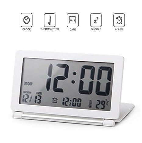 Amazon.com: Reloj Digital de viaje, Ultra-thin Clamshell ...