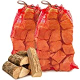 The Chemical Hut Ready to Burn 20kg Premium Seasoned Softwood Logs Firewood Fuel for Open Fire Stoves Log Burner - Comes with THE LOG HUT White Woven Sack
