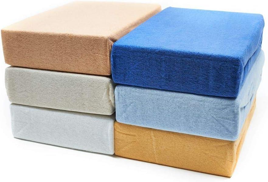 Dreamhome24 warme Baby Soft enfants polaire Drap Housse Drap Housse 70/x 140 70x140 cm beige
