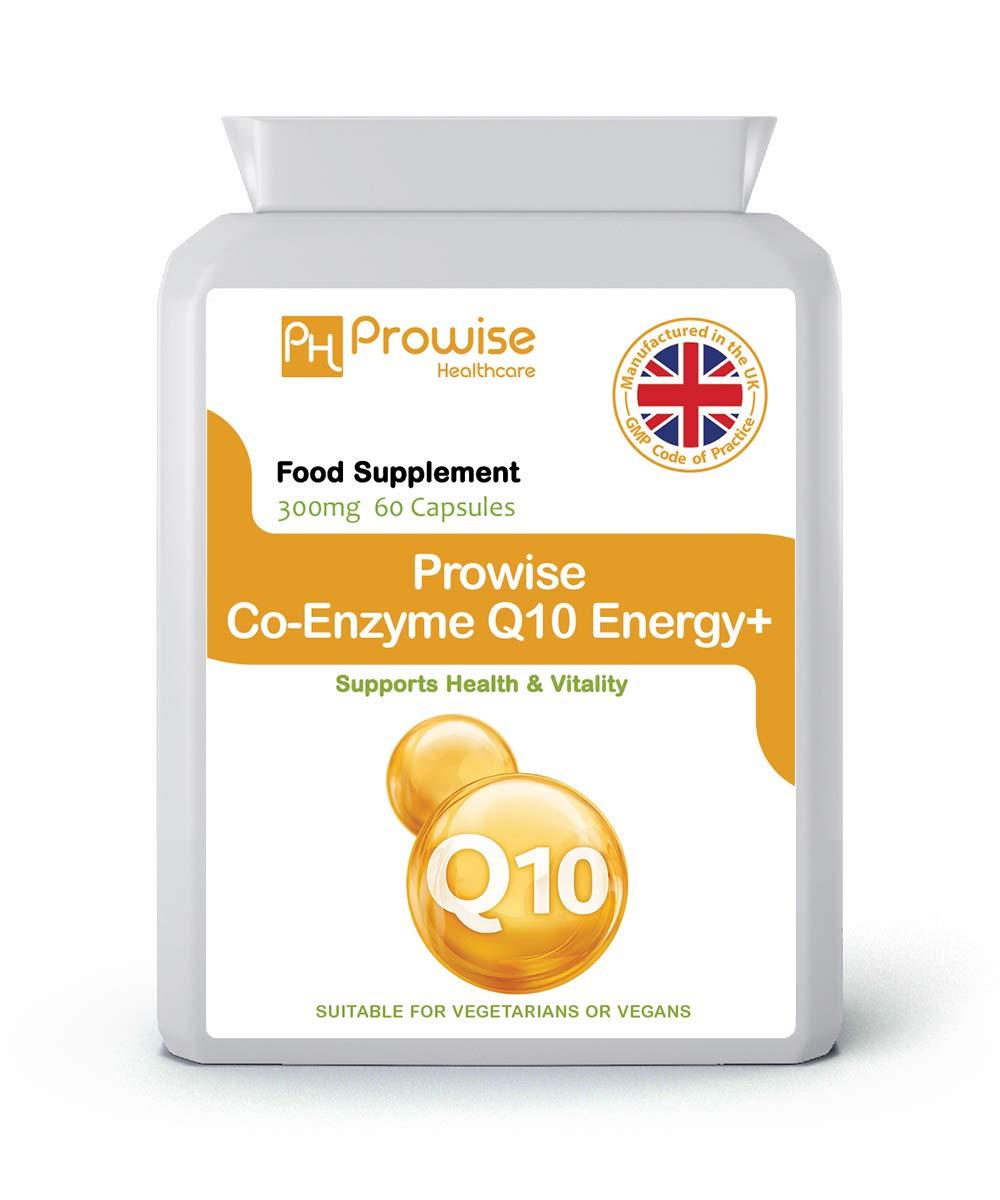 Prowise Co-Enzima Q10 (CoQ10) 300mg 60 cápsulas vegetarianas - Rápida liberación de alta absorción - Reino Unido Fabricado GMP Calidad Asegurada ...