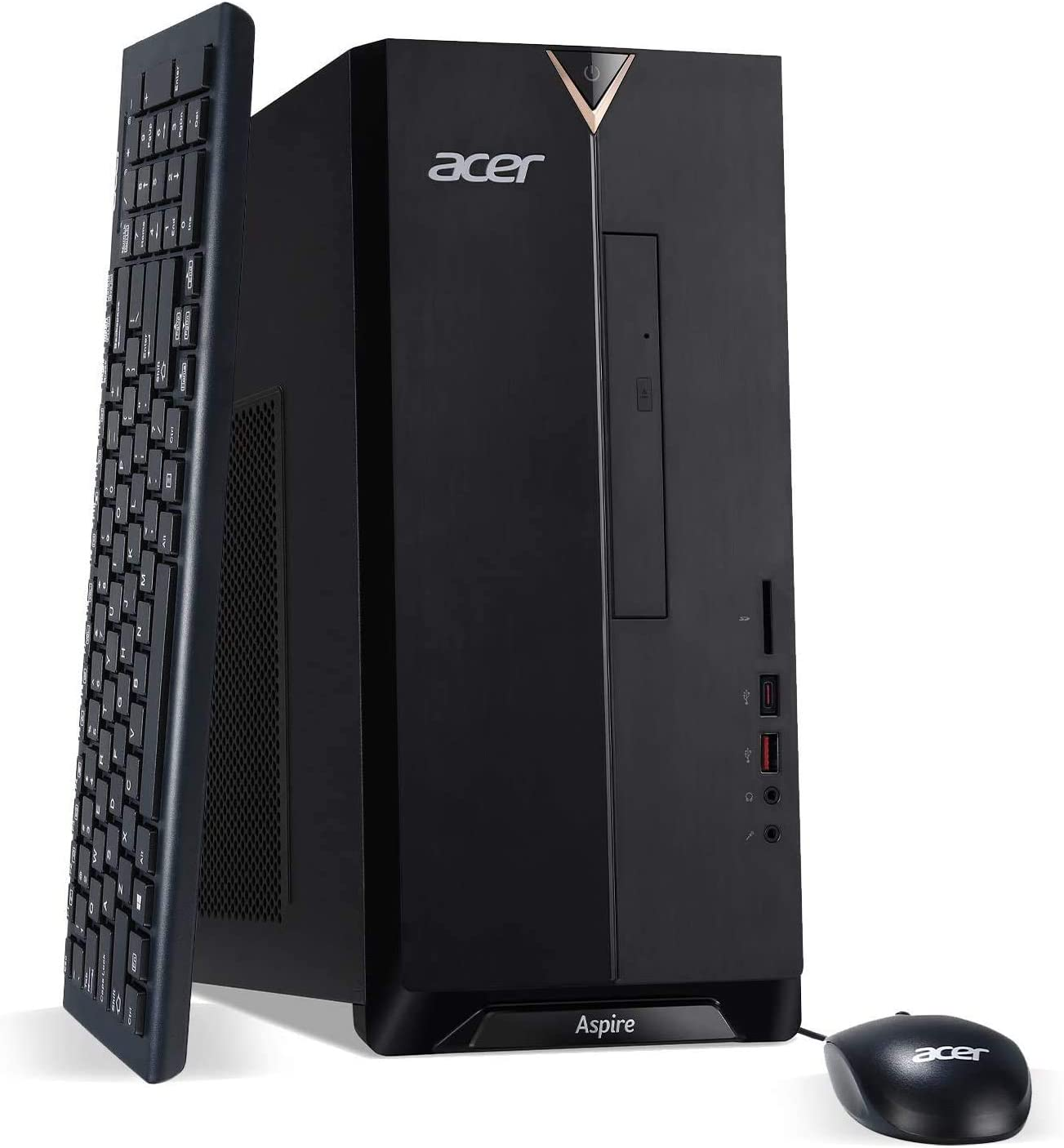2020 Acer Aspire TC-885 Newest Desktop, 9th Gen Intel Core i5-9400 Upto 4.1GHz,DVD, 32GB DDR4, 1TB SSD + 1TB HDD, 802.11AC, USB 3.1 Type C, Windows 10 Home,Black w/Rock eDigital Accessories