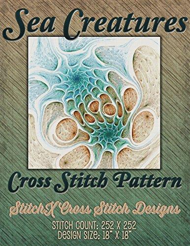 Stunning Design (Sea Creatures Fractal Cross Stitch Pattern - Stunning Abstract Digital Art Design)