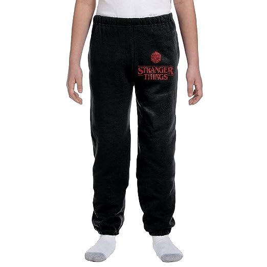 Stranger Things Tv Series Logo Teenager Men Loose Pajama Sleep Lounge Bottom Pants Sports Black Large
