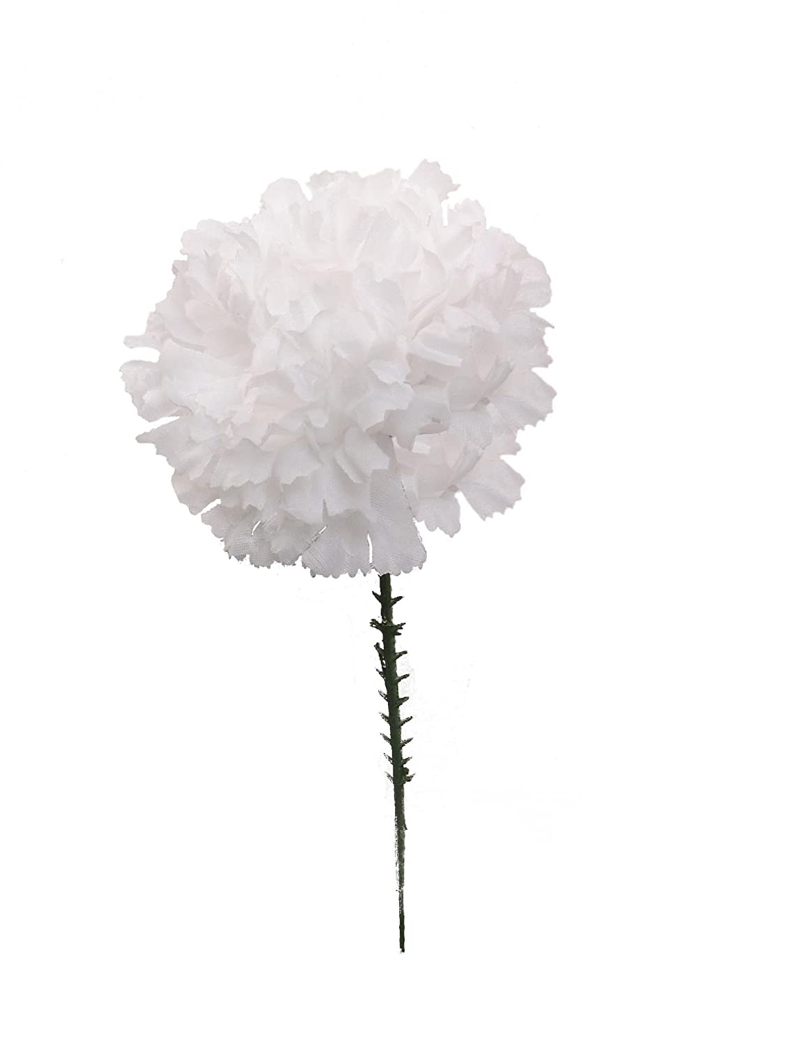 Amazon 100 Carnations 5 White Artificial Silk Flower Pick