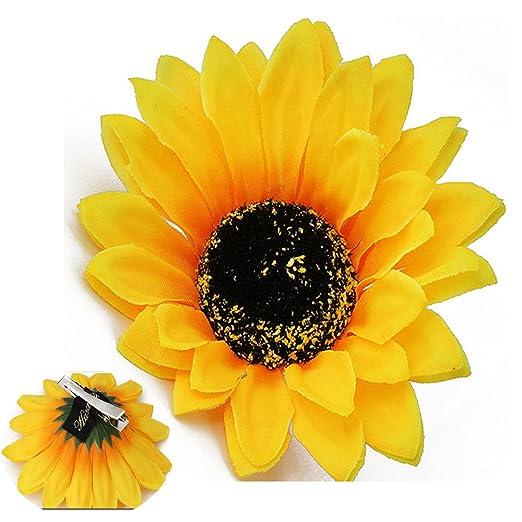 9490e88f5b517 Patiky Sunflower Hair Clips for Women Girls Non Slip Alligator Clips  Hairpin TS08