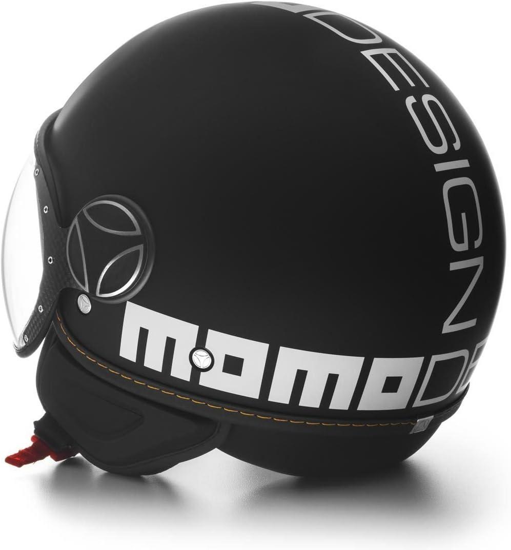 Casco Moto Jet MOMO Design FGTR Evo Nero