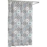 Kassatex Urban Tiles Shower Curtain, Blue/Grey, 72 by 72-Inch by Kassatex