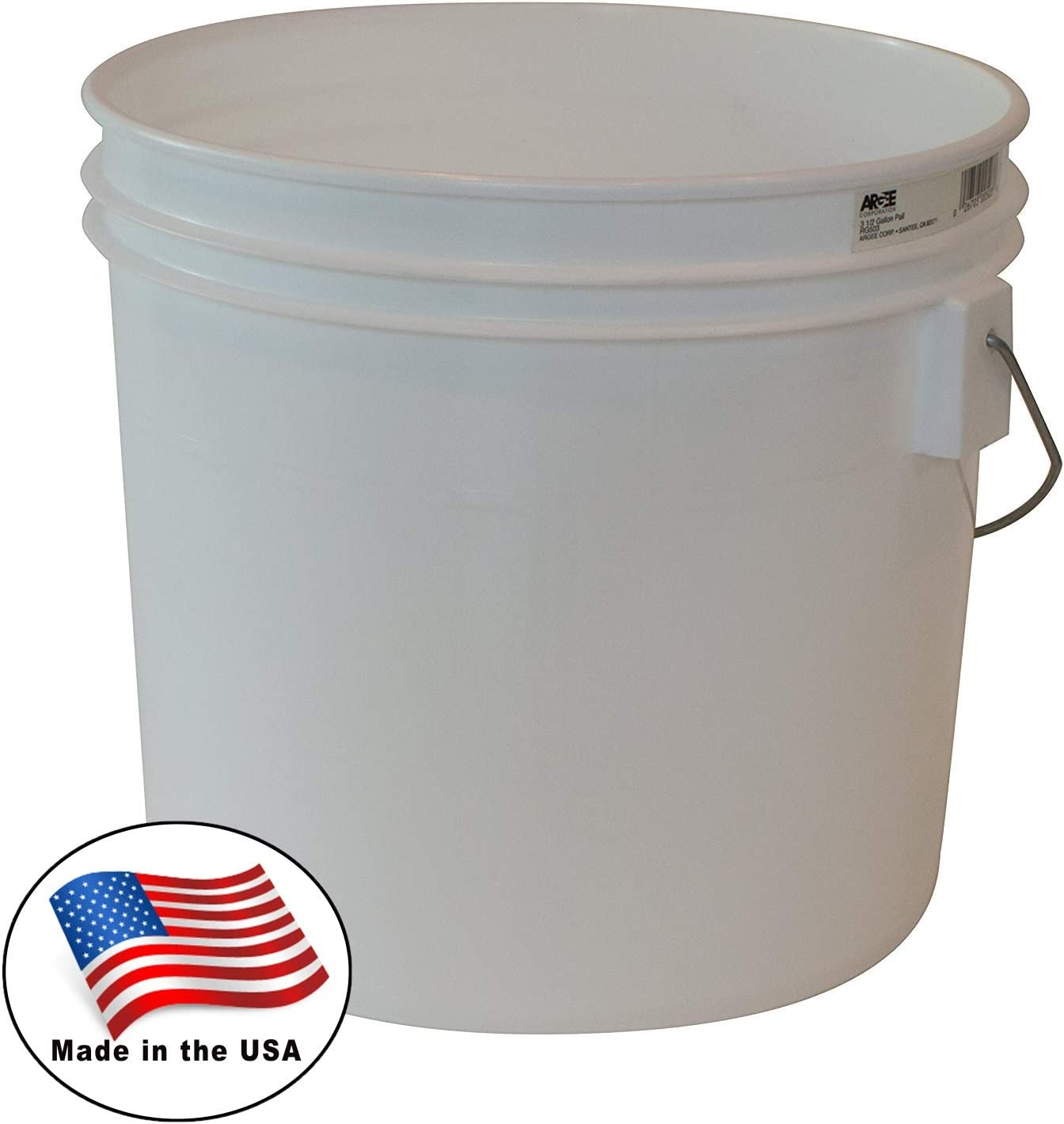 Argee RG503/10 Bucket, 3.5 gallon, White, 10 Count