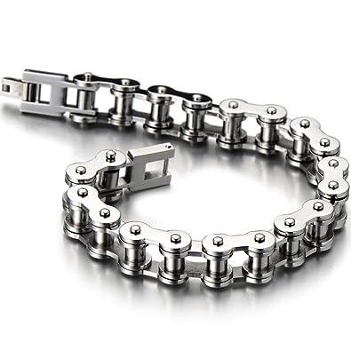 H+C Classique - Bracelet Chaîne de Vélo - Bracelet en Acier Inoxydable Pour  Homme d8ceb53e28f0