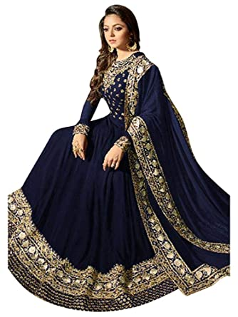 0a007563905 Women s Anarkali Salwar Kameez Designer Indian Dress Ethnic Party  Embroidered Gown at Amazon Women s Clothing store
