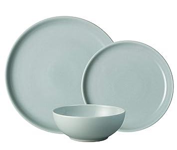 denby intro 12 pc dinner set pale blue amazon co uk kitchen home