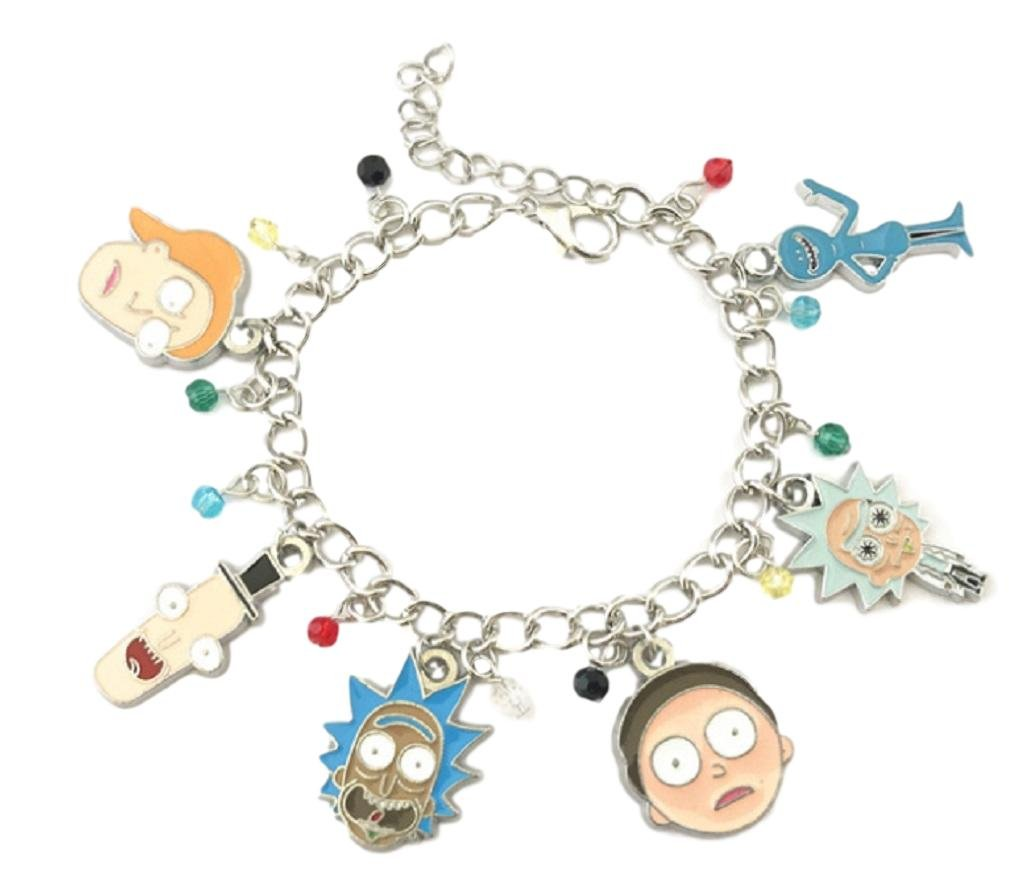 New Horizons Production Rick and Morty Characters Assorted Metal Charms BRACELET