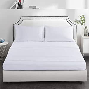Twin, Cream Wavva Bedding Modern Solid Color Fitted Sheet 1800 Deep Pocket Brushed Velvety Microfiber