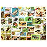 Insects : 100 Different Stamps Collection Mixture Packet Stamps for Collectors
