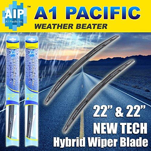 Hybrid Windshield Wiper Blades Bracketless 9x3 J-HOOK OEM QUALITY(Set of 2 wipers) (22
