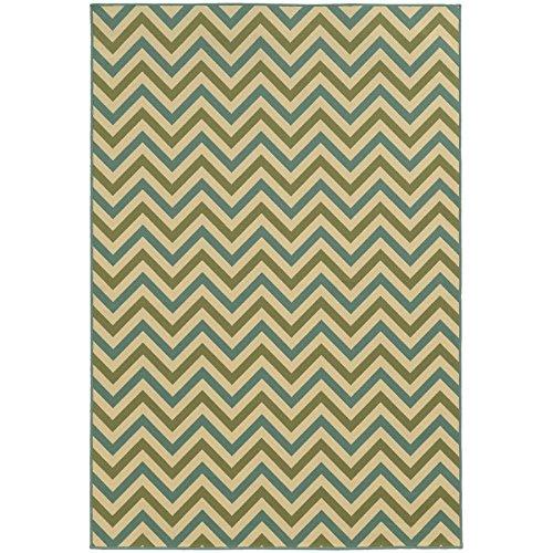 (Oriental Weavers 4593U Riviera Area Rug, 8-Feet 6-Inch by 13-Feet, Green/Blue)