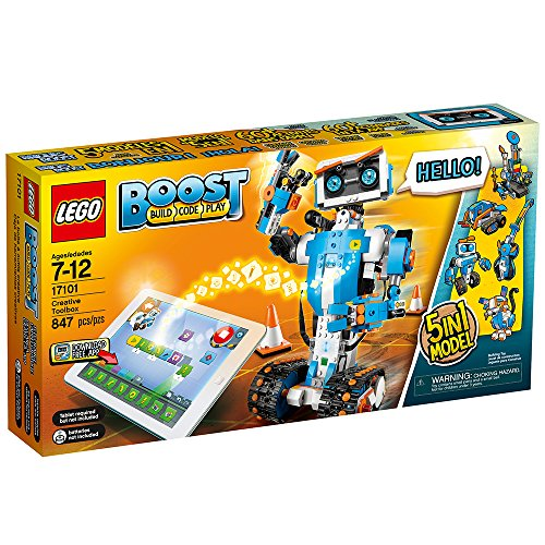 61uoeolir9L - LEGO Boost Creative Toolbox 17101 Fun Robot Building Set and Educational Coding Kit for Kids, Award-Winning STEM Learning Toy (847 Pieces)