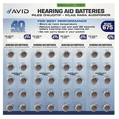 Avid Hearing Aid Battery Count