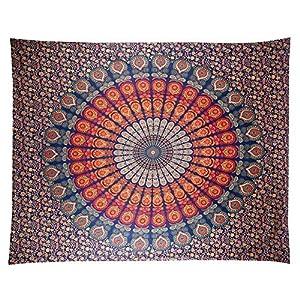 Anyasen Tapiz de pared mandala Tapestry Tapices tapiz hippie diseño de pavo real psicodélico colgante de pared bohemio… | DeHippies.com