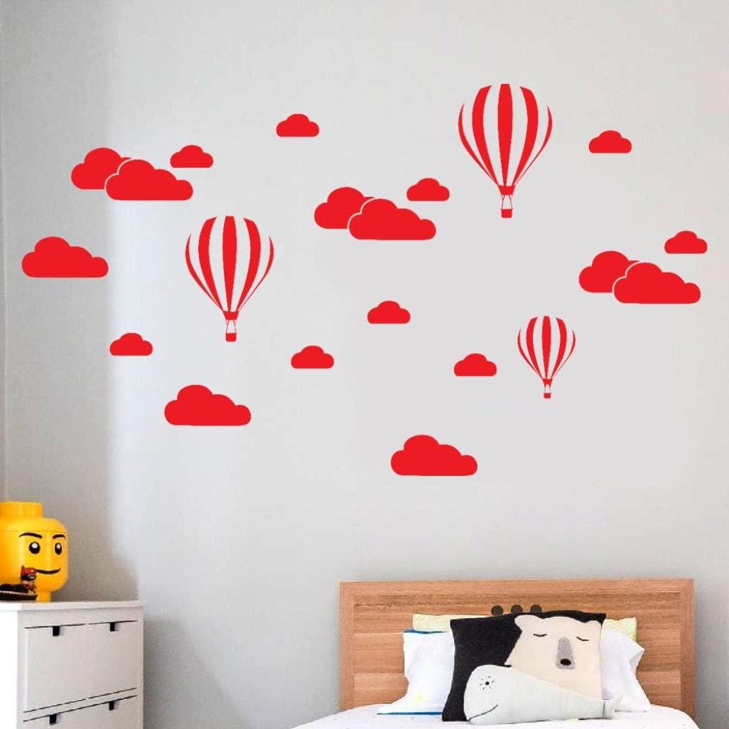 Blanc XLGX 24PCS B/éb/é Smiley nuages blancs Stickers muraux Chambre Decor gar/çons filles Chambre D/écoration Mur Art