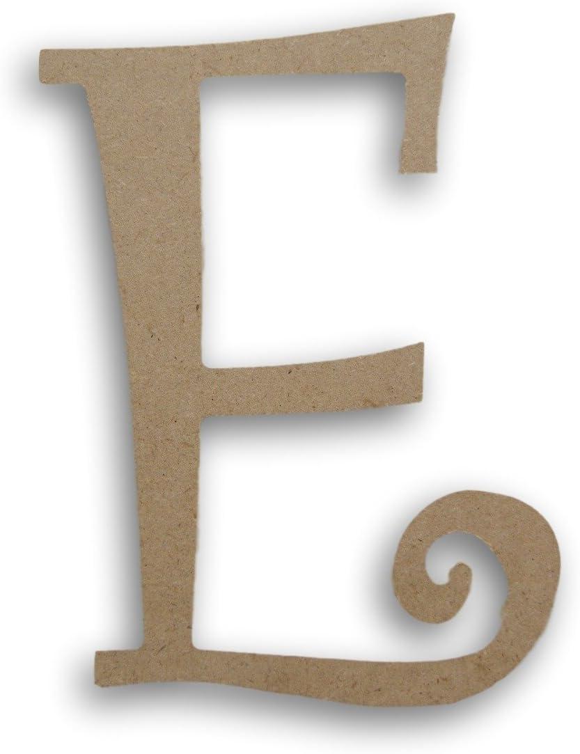 MPI Wood Pressed Wood Initials Wall Decor - 7.5 Curvy E