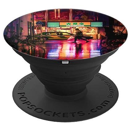Amazon.com: Neon Rain Vaporwave Aesthetic - PopSockets Grip ...