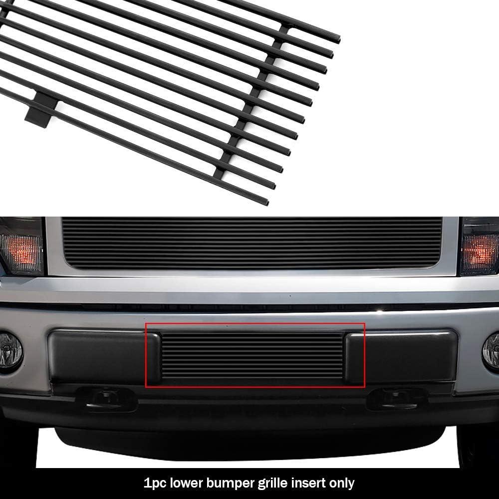 APS Compatible with 2009-2014 Ford F-150 Reg Model Bumper Rivet Stud Billet Grille N19-F98766F