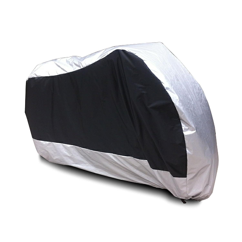 Pioggia SurePromise Telo Coprimoto Impermeabile Universale,Copri Scooter Moto Antipolveri Anti-Acqua Escrementi di Uccelli per Esterni XXL,Verde/&Nero Vento Polvere