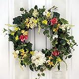 SF Summer Garden Breeze Spring Wreath Decorative Door Wreath