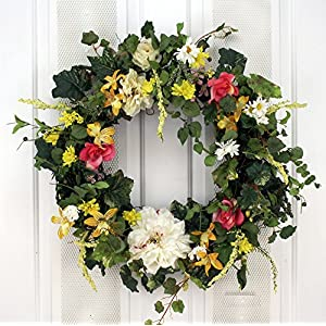 SF Summer Garden Breeze Spring Wreath Decorative Door Wreath 36