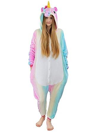 Damen Fleece Einteiler Nachtwäsche Pyjama Kostüm Kapuze Kuh schwarz weiß Gr S